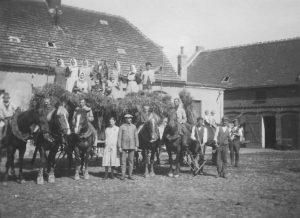 Das letzte Fuder in Lindau/Anhalt im Sommer 1930. Foto: Privatbesitz Frölich.
